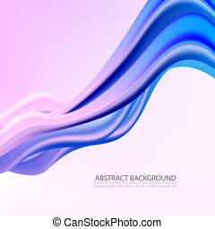 3d Abstract Background. Colorful Wave Shapes. Trendy Vector Illustration EPS10 for Your Creative Design.