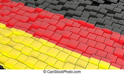 3D abstract background with flag of Germany