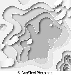 3D abstract background with paper cut shapes. Vector design layout for business presentations, flyers, posters.