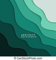 3D abstract background with white paper cut shapes. Design layout for business presentations, flyers, posters. Vector illustration