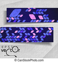 Abstract Banners With Place For Your Text