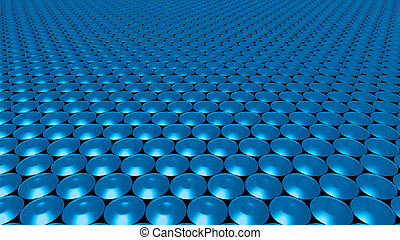 3D abstract blue pattern circle wide