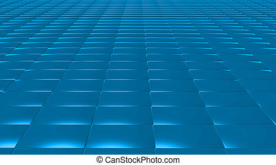 3D abstract blue pattern rectangle front