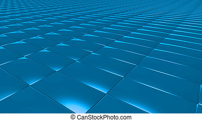 3D abstract blue pattern rectangle