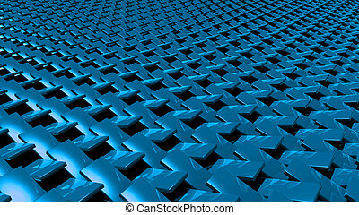 3D abstract blue zip pattern