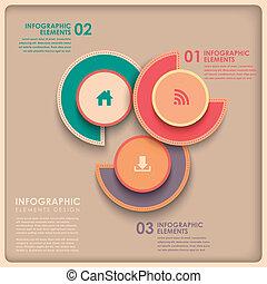 3d, abstract, cirkeldiagram, infographics