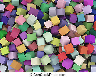 3d abstract colorful cubes boxes background