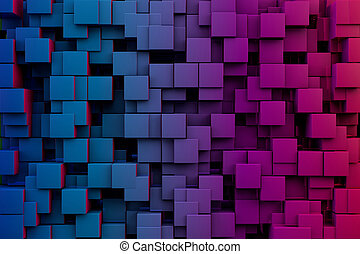 Abstract Cubes - 3D Abstract Cubes Background Texture Design...