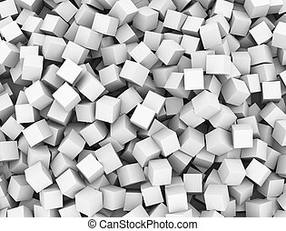 3d abstract cubes boxes background