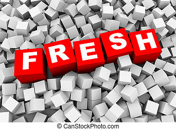 3d abstract cubes boxes background - fresh