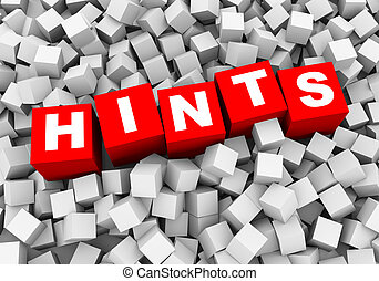 3d abstract cubes boxes background - hints