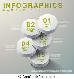 3d abstract cylinder infographics