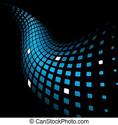 3d abstract dynamic blue background
