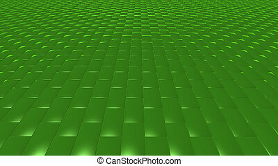 3D abstract Emerald green pattern brick front
