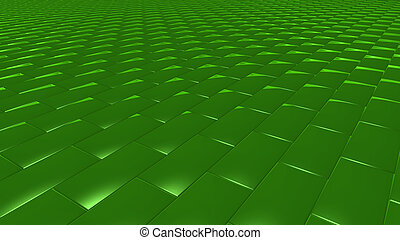 3D abstract Emerald green pattern brick