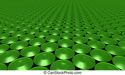 3D abstract Emerald green pattern circle