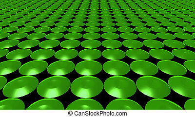 3D abstract Emerald green pattern circle front