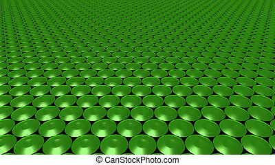 3D abstract Emerald green pattern circle wide