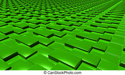 3D abstract Emerald green pattern layer