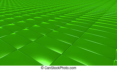 3D abstract Emerald green pattern rectangle