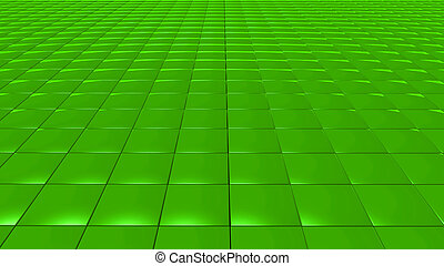 3D abstract Emerald green pattern square front