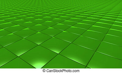 3D abstract Emerald green pattern square