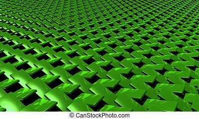 3D abstract Emerald green zip pattern