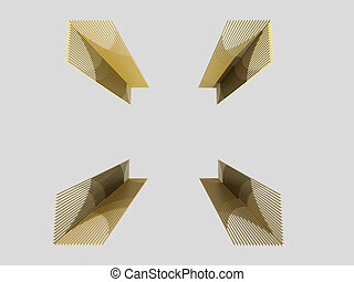 3D Abstract Frame Isolated on white