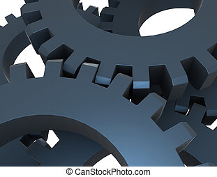 3d abstract gears concept. 3d rendered illustartion