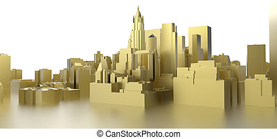 abstract gold city