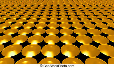 3D abstract gold pattern circle front