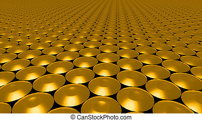 3D abstract gold pattern circle