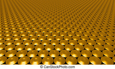 3D abstract gold pattern circle wide