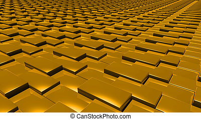 3D abstract gold pattern layer