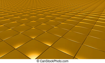3D abstract gold pattern square