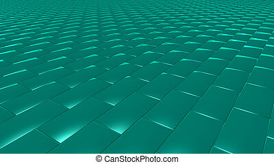 3D abstract green pattern brick
