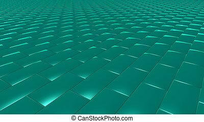 3D abstract green pattern brick