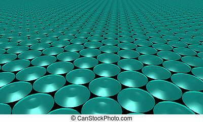 3D abstract green pattern circle