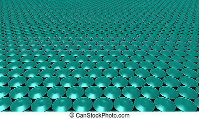 3D abstract green pattern circle wide