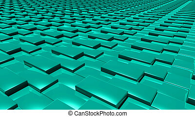 3D abstract green pattern layer