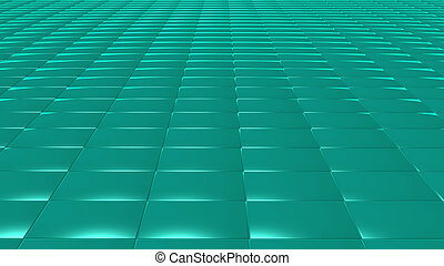 3D abstract green pattern rectangle front