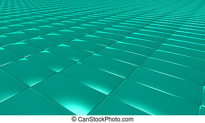 3D abstract green pattern rectangle