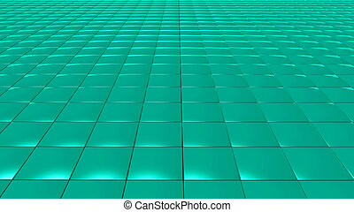 3D abstract green pattern square front