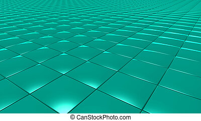 3D abstract green pattern square
