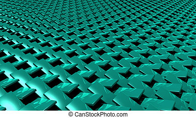 3D abstract green zip pattern