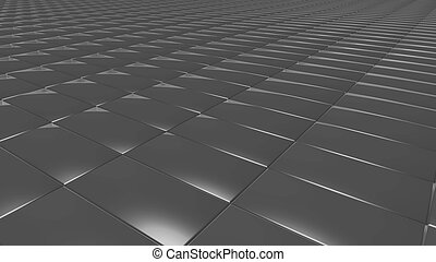 3D abstract grey pattern rectangle