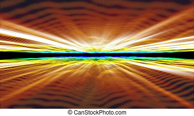 3d abstract horizon in space