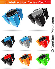 3d Abstract Icon Series - Set 4