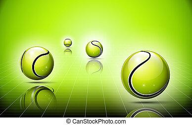3d abstract logo of tennis balls