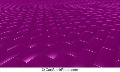 3D abstract magenta pattern brick